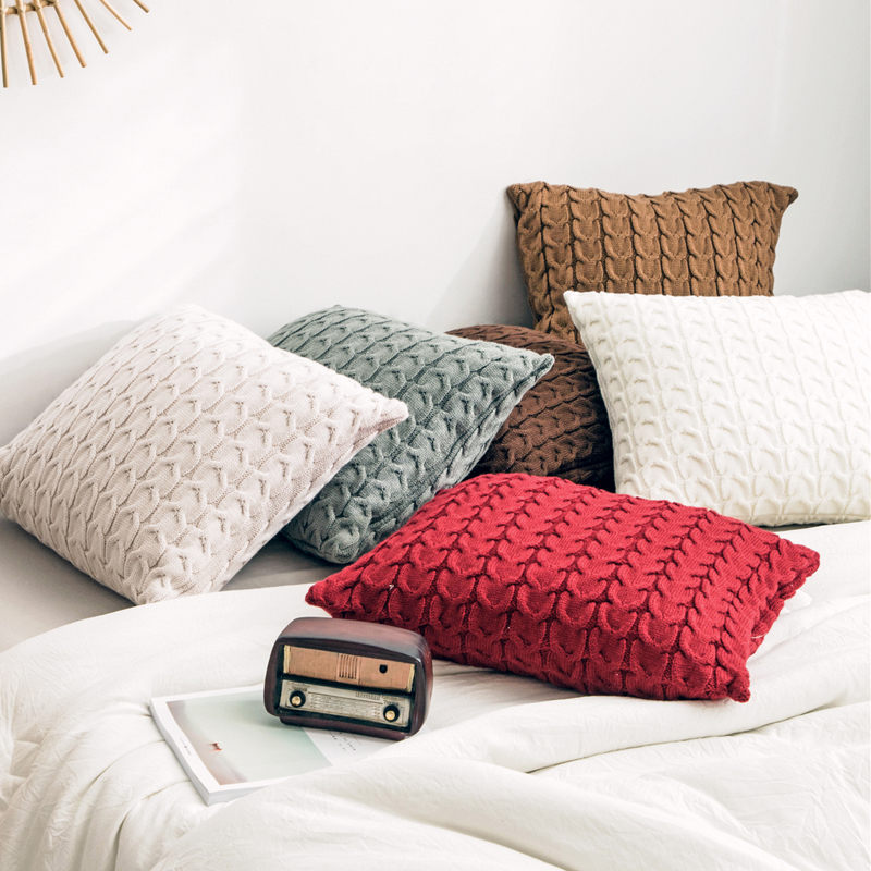 45 × 45 Nordic Cotton Cushion Cover